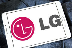 Logotipo da empresa do LG fotografia de stock royalty free