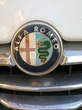 Logotipo da empresa do motor de Alfa Romeo Fotografia de Stock Royalty Free