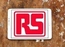 Logotipo da empresa dos componentes de RS imagem de stock