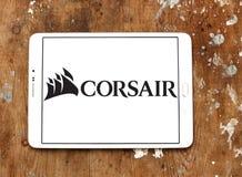 Logotipo da empresa dos componentes do corsário imagens de stock royalty free