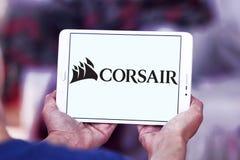Logotipo da empresa dos componentes do corsário fotografia de stock royalty free