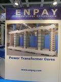 Logotipo da empresa dos componentes do transformador de Enpay imagens de stock