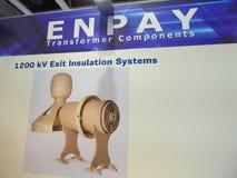Logotipo da empresa dos componentes do transformador de Enpay imagem de stock royalty free