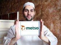 Logotipo da empresa da maquinaria industrial de Metso Fotografia de Stock Royalty Free