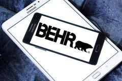 Logotipo da empresa da pintura de Behr Foto de Stock