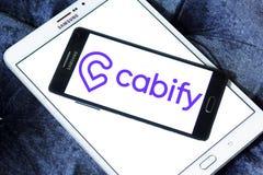 Logotipo da empresa da rede do transporte de Cabify Fotografia de Stock Royalty Free