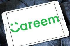 Logotipo da empresa da rede do transporte de Careem fotos de stock