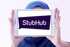 Logotipo da empresa da troca do bilhete de StubHub Imagem de Stock
