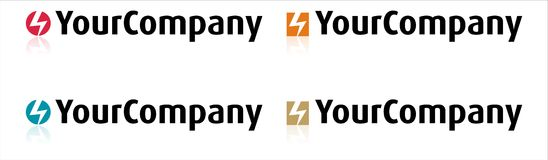 Logotipo da energia Fotografia de Stock Royalty Free
