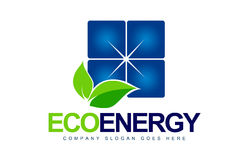 Logotipo da energia solar Foto de Stock Royalty Free
