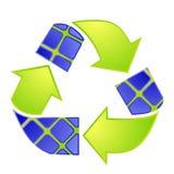 Logotipo da energia solar Setas de Eco Fotografia de Stock Royalty Free