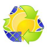 Logotipo da energia solar Setas de Eco Imagem de Stock