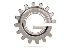 Logotipo da engrenagem 3D de G no fundo branco ilustração 3D Ilustração do Vetor