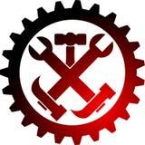 Logotipo da engrenagem da ferramenta ilustração stock