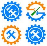 Logotipo da engrenagem e das ferramentas ilustração royalty free