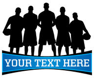 Logotipo da equipa de basquetebol Imagem de Stock Royalty Free