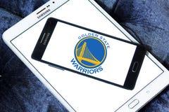 Logotipo da equipa de basquetebol dos guerreiros do Golden State Fotos de Stock