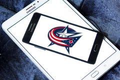 Logotipo da equipe de hóquei em gelo de Columbus Blue Jackets imagens de stock royalty free