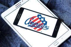 Logotipo da equipe de hóquei em gelo dos americanos de Rochester imagens de stock