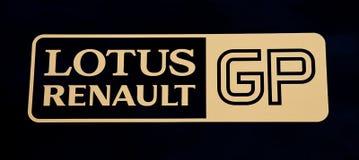 Logotipo da equipe de Renault dos lótus Fotos de Stock