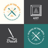 Logotipo da escova ilustração stock