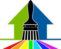 Logotipo da escova de pintura Fotos de Stock