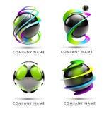 Logotipo da esfera ilustração stock