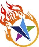 Logotipo da estrela da chama ilustração do vetor