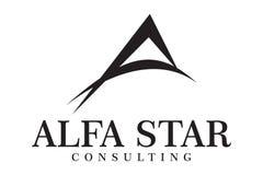 Logotipo da estrela do alfa Imagens de Stock