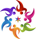 Logotipo da estrela do círculo Foto de Stock