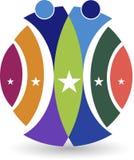 Logotipo da estrela dos pares Fotografia de Stock