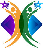 Logotipo da estrela dos pares Imagens de Stock Royalty Free