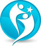 Logotipo da estrela dos pares Fotografia de Stock Royalty Free