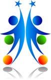 Logotipo da estrela dos povos Foto de Stock Royalty Free