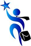 Logotipo da estrela dos povos Fotos de Stock Royalty Free