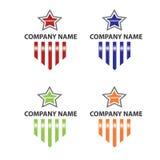 Logotipo da estrela e da listra Imagens de Stock