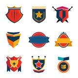 Logotipo da etiqueta e vintage da bandeira retro Foto de Stock Royalty Free