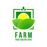 Logotipo da exploração agrícola Fotografia de Stock