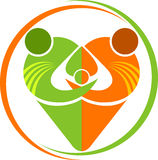 Logotipo da família do coração ilustração royalty free