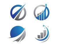 Logotipo da finança Fotografia de Stock