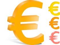 logotipo da finança do vetor 3d euro- Imagem de Stock Royalty Free