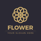 Logotipo da flor Fotos de Stock Royalty Free