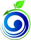 Logotipo da folha Fotografia de Stock