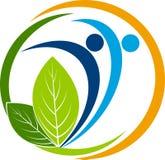 Logotipo da folha ilustração royalty free