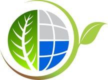 Logotipo da folha Foto de Stock