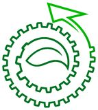 Logotipo da folha Fotos de Stock