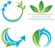 Logotipo da folha da seta Fotografia de Stock