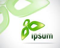 Logotipo da folha de Eco Fotografia de Stock