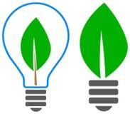 Logotipo da folha do bulbo Fotos de Stock Royalty Free