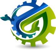 Logotipo da folha da engrenagem Foto de Stock Royalty Free